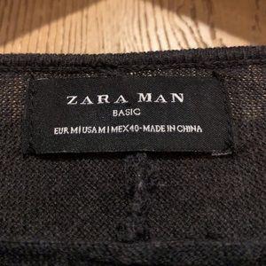 Men's Long Sleeve Black Sweater In Black